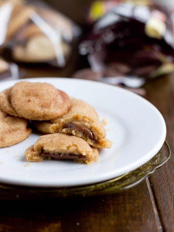 Peanut Butter Cookies with a chocolate center