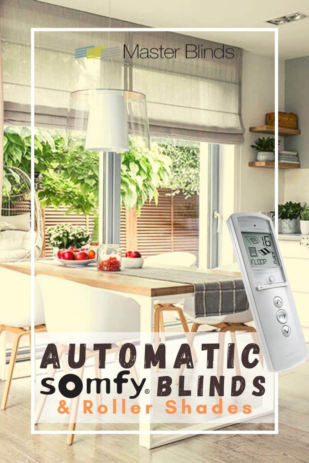 Automatic Somfy Blinds Roller Shades In 2020 Somfy Blinds Motorized Blinds Motorized Window Treatment