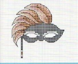 0 point de croix masque - cross stitch mask 1