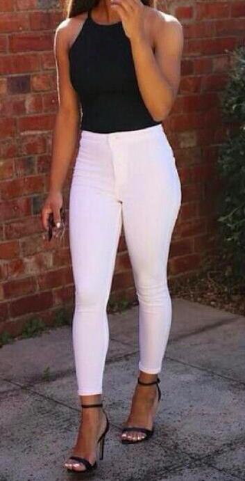 White high waisted jeans에 관한 상위 25개 이상의 Pinterest 아이디어 ...