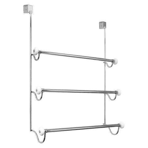 Interdesign Over The Cabinet 3 Bar Towel Rack Satin Nickel