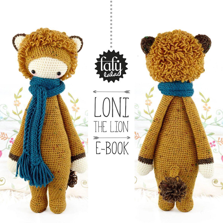 LONI the lion • lalylala crochet pattern / amigurumi | Bichos y Labores