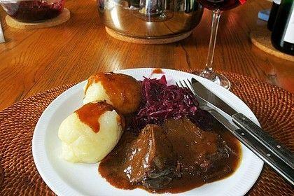 Omis Rinderbraten mit Rotweinsoße #beefsteakrecipe