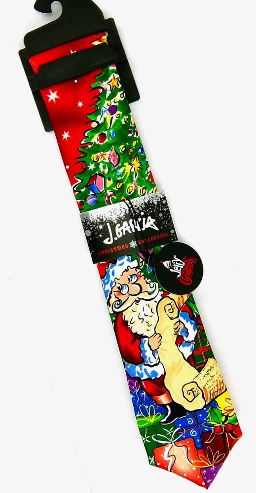 Jerry Garcia Christmas Tie Santa Tree MultiColor Surprise Package ...