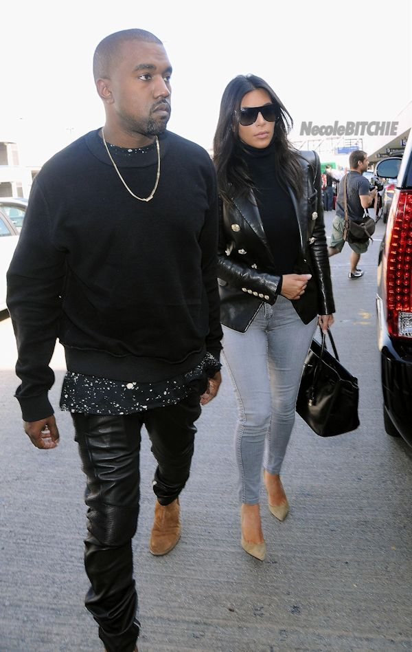 Kanye West Spotted At LAX Wearing Yeezus Hoodie, Maison Margiela Pants &  Yeezy Boots +