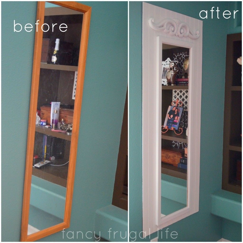 Full Length Mirror Ideas Oh This Is A Great Idea To Make That Plain Old Full
