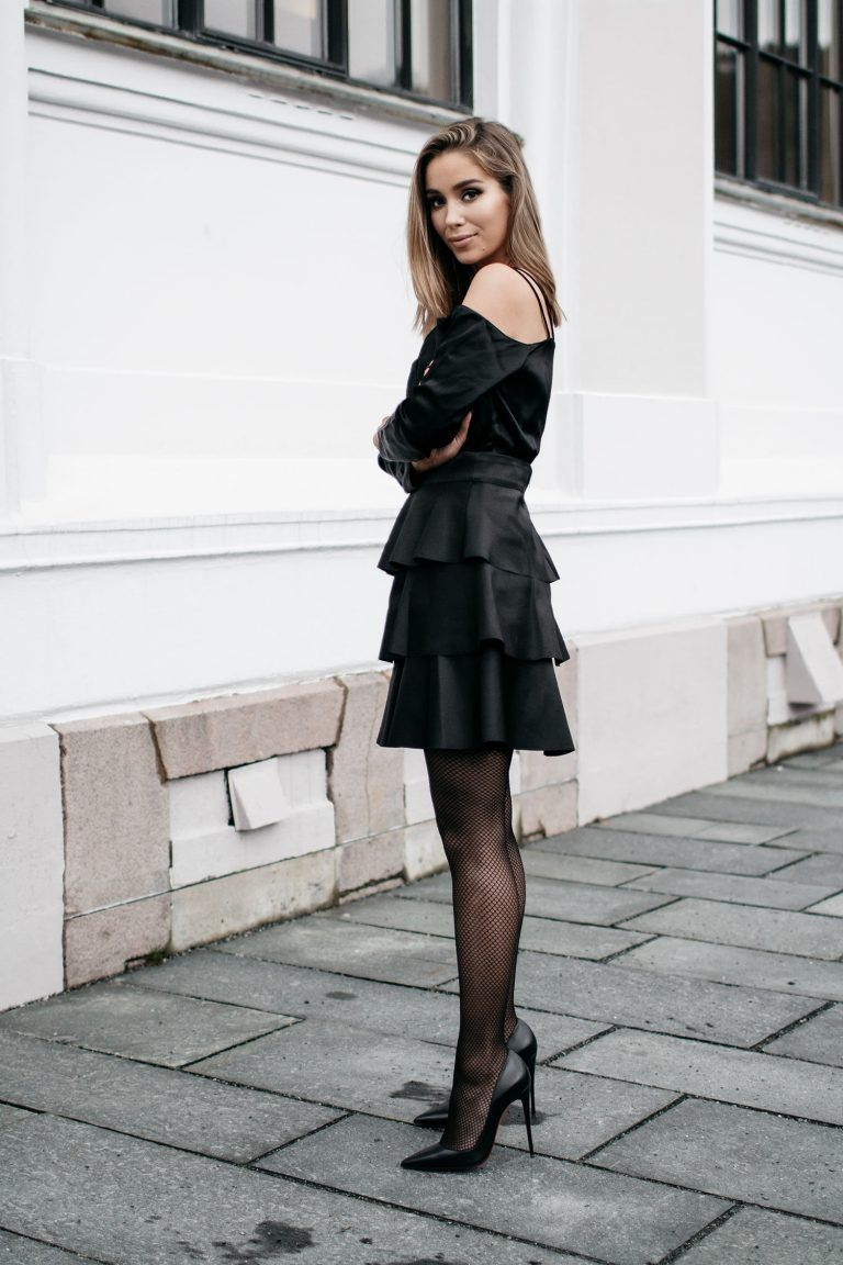 All Black Outfits You Can T Really Go Wrong Just The Design Dress With Stockings Fashion Black Stockings Outfit [ 1152 x 768 Pixel ]