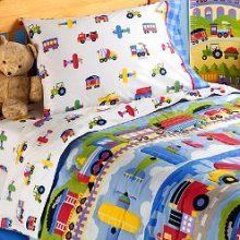 trains plane and automobile bedding