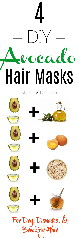 4 simple diy avocado hair mask recipes avocado hair mask