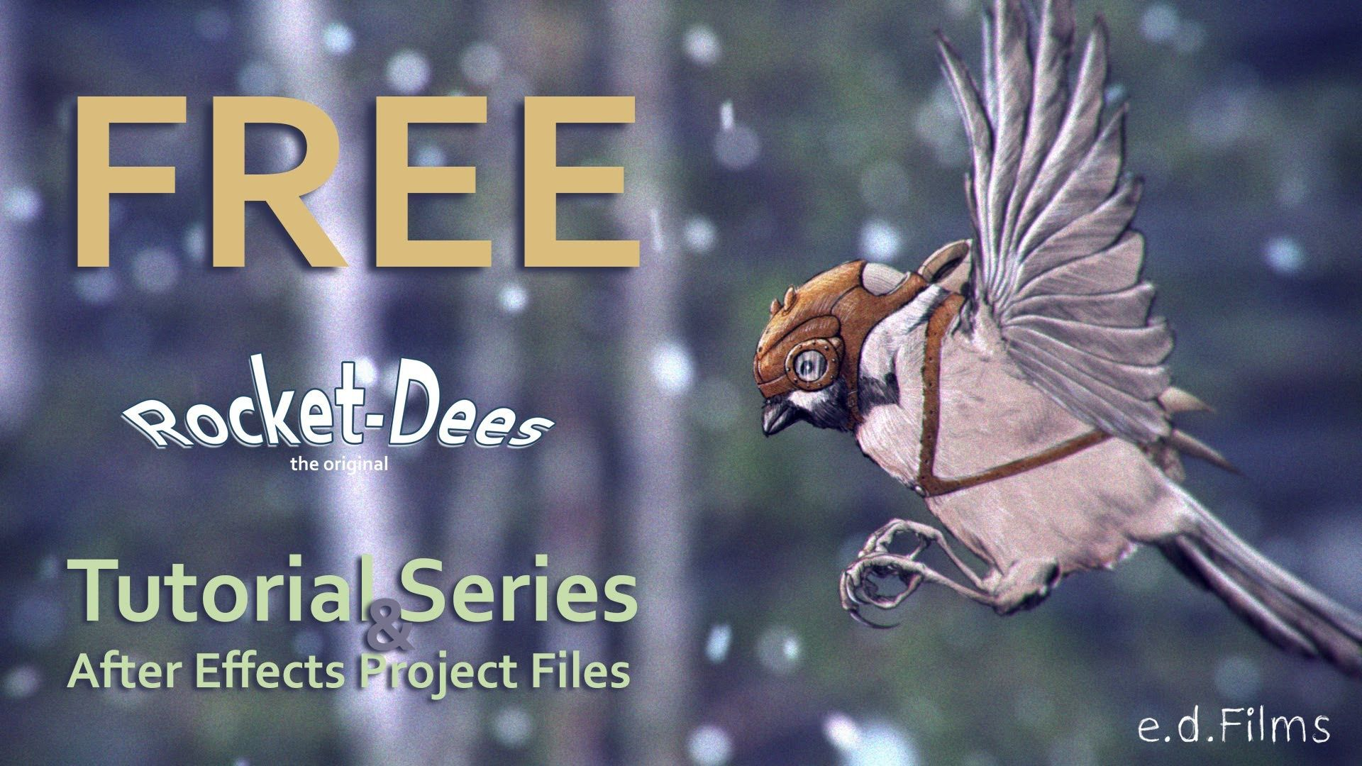 This project uses After Effects, FreeForm Pro for the wings