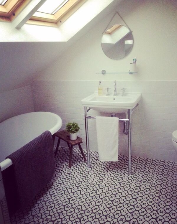 Loft Bathrooms Painting Fascinating Loft Extension Bathroom Farrow & Ball Roll Top Painted Bath Under . Decorating Design