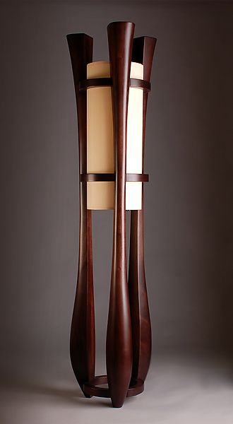 Chronos by Kyle+Dallman: Wood+Floor+Lamp available at www.artfulhome.com