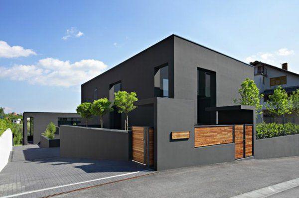 die besten 25 graue fassade ideen auf pinterest wei e. Black Bedroom Furniture Sets. Home Design Ideas