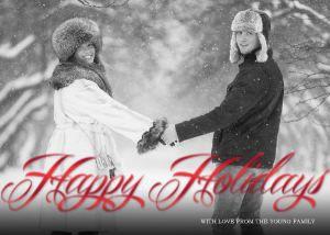 Mixbook Happy Holidays Ribbon Holiday Photo Cards
