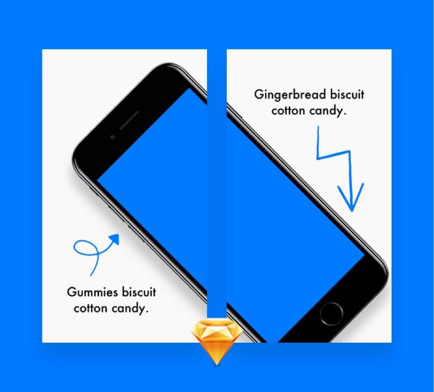 App Store Screens Preview For Sketch App Store App Mockup