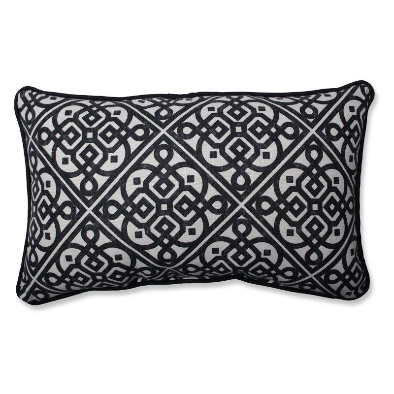 Pillow Perfect Lace It Up Ebony Throw Pillow - 5889