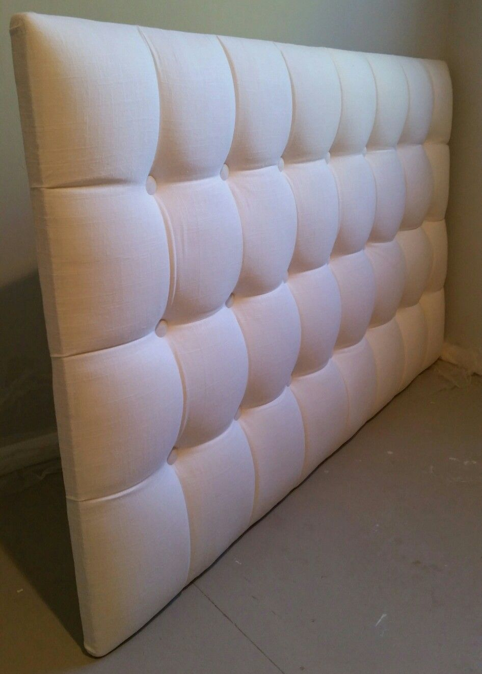 Square tufted king upholstered headboard custom wall mounted | Diy ...
