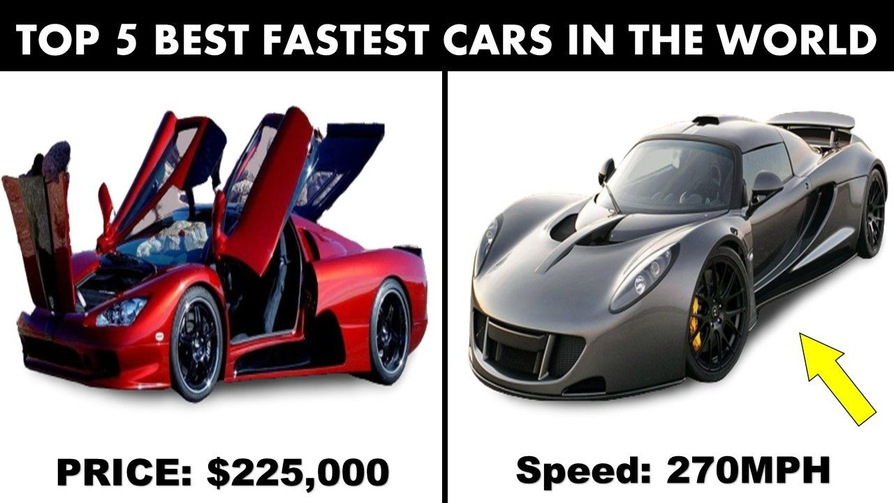 Top 5 Best Fastest Cars In The Whole World Ever Top Speed Cars In 2020 In 2020 Fast Cars Hennessey Venom Gt Hennessey