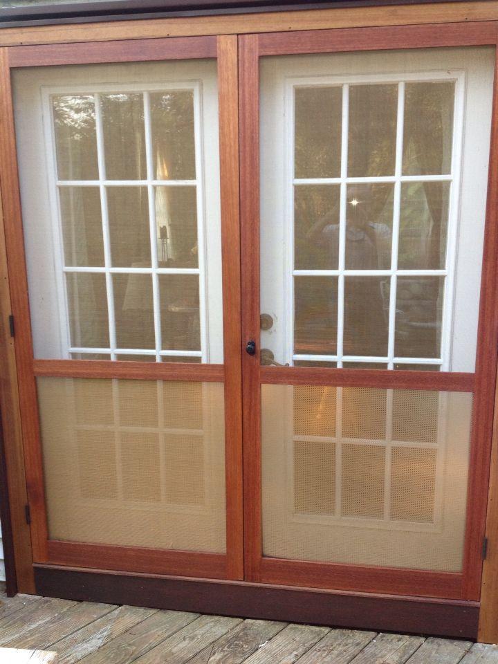 Custom double screen doors for my wife french doors