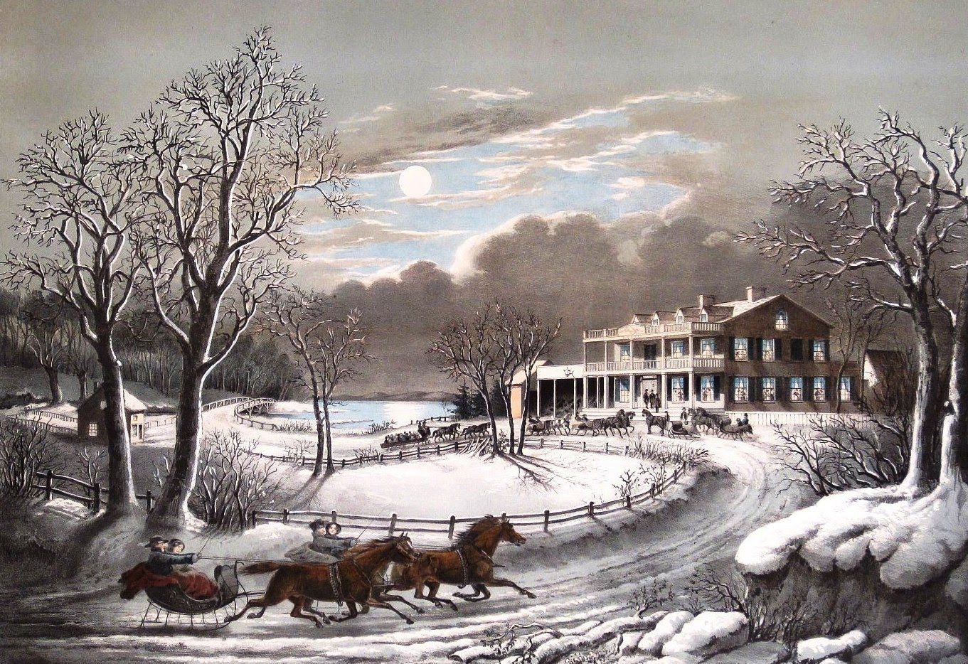 Currier And Ives Jpg 1361 934 Currier And Ives Prints Winter Scenes Currier And Ives