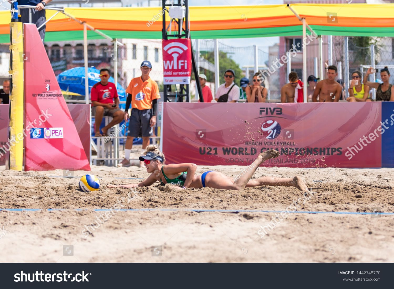 Udonthani Thailand June 20 2019 Beach Volleyball Players In Action Of U21 World Championships On June 20 20 Thailand Volleyball Players Beach Volleyball