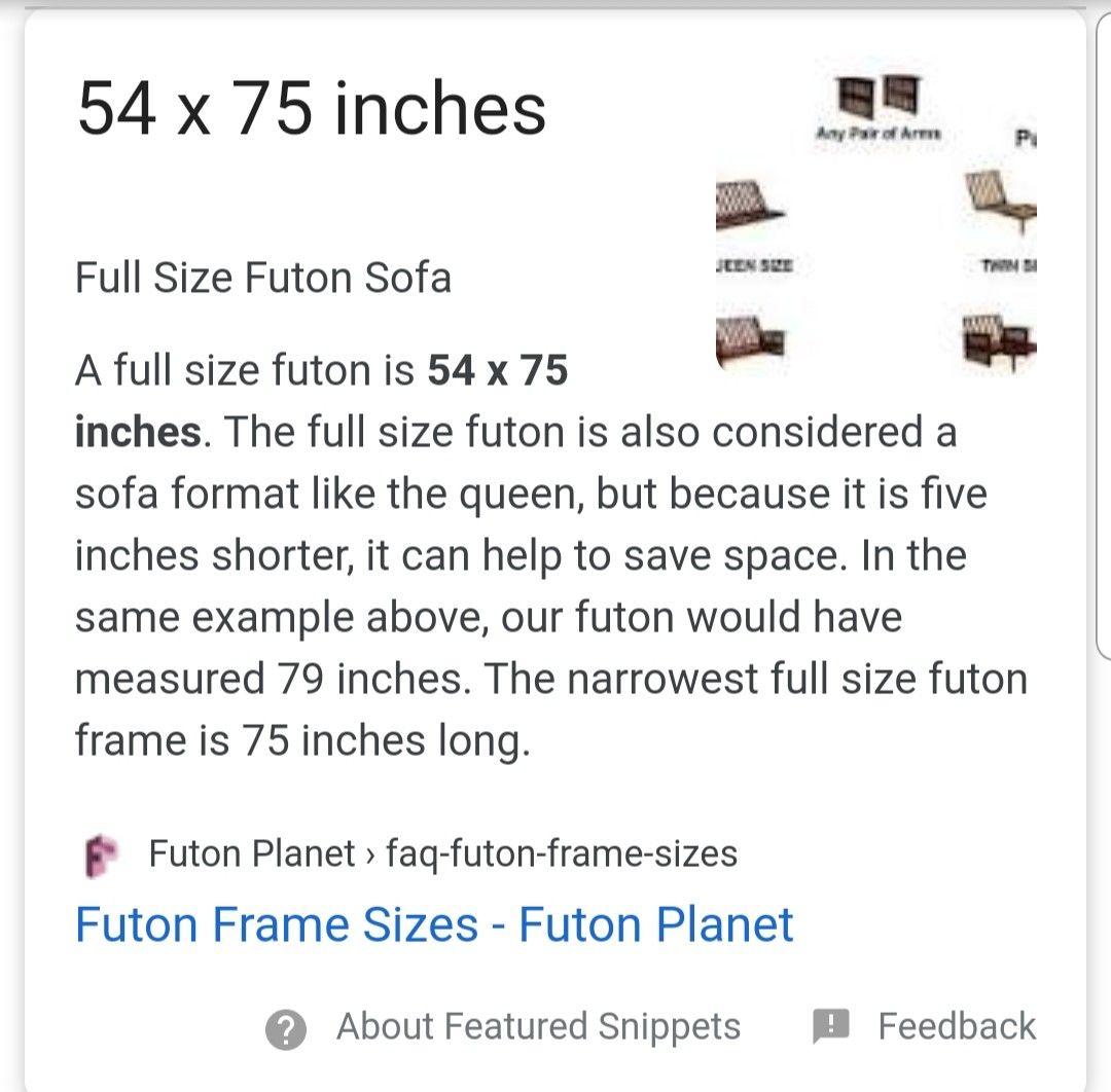 Futon Sizes In 2020 Full Size