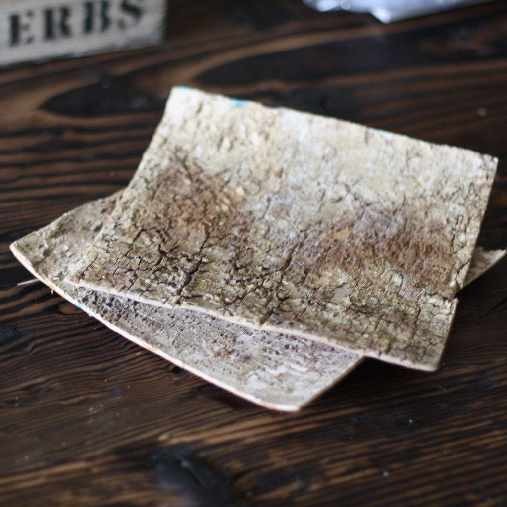 Birch Bark Sheets – Set Of 10
