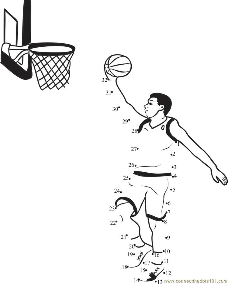 Basketball Bounce Connect Dots