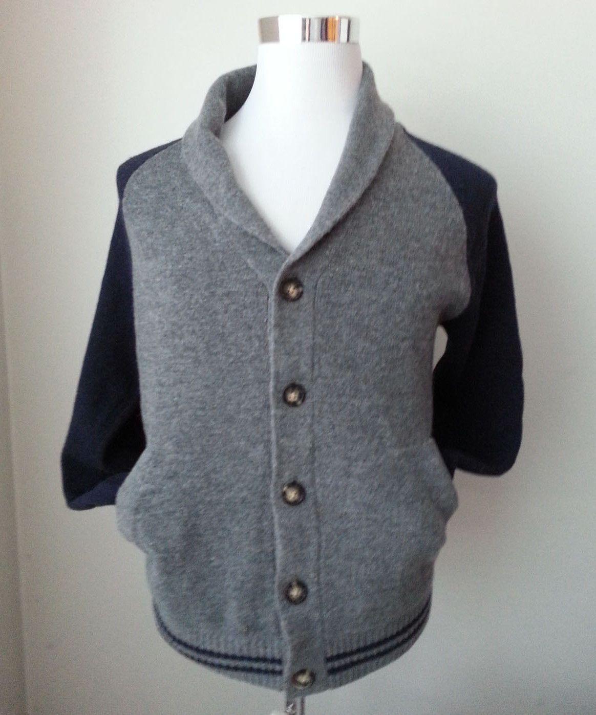 ebay Frederik Anderson Copenhagen Men's Size S wool cardigan shawl ...