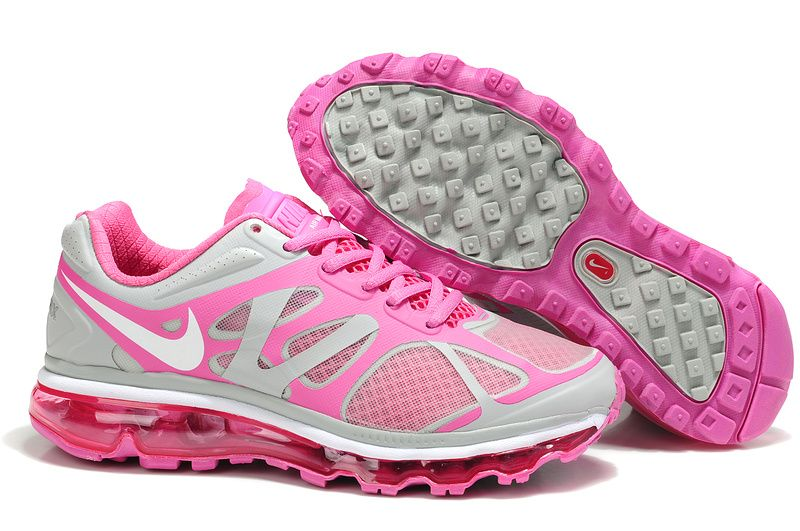 sports shoes ca069 a3ada Nike Air Max 2012 Grey Pink White Women s Running Shoes  Lovely  pink   products cheap nike shoes