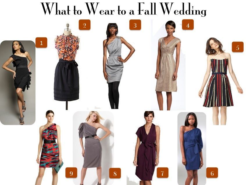 A few great dresses to wear to Fall Weddings!  What to wear fall