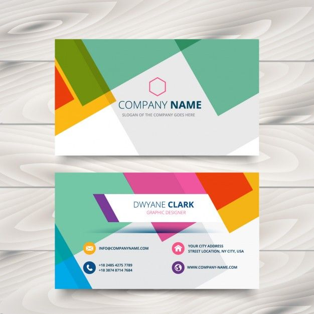 Modern colorful business card free vector graphic design modern colorful business card free vector reheart Gallery