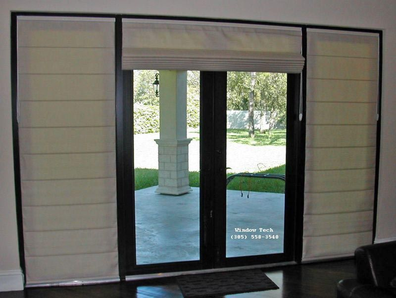 Attractive Roman Shades On French Doors
