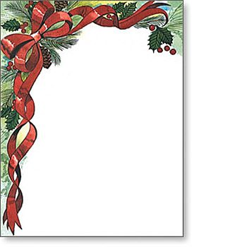FreeChristmasLetterPaperTemplates  Christmas Border