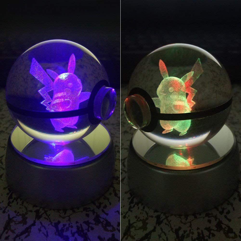 Cooles Picachu Nachtlicht Fur Kinder 3d Crystal Ball Led Nachtlicht Nachtlicht Fur Kinder Pokemon Geschenke Geschenke Fur Jungs