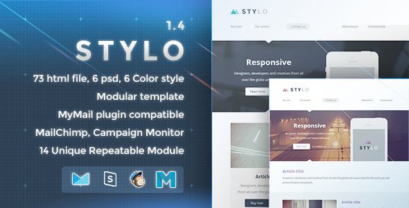 Download Free Stylo Responsive Email Template Builder Business
