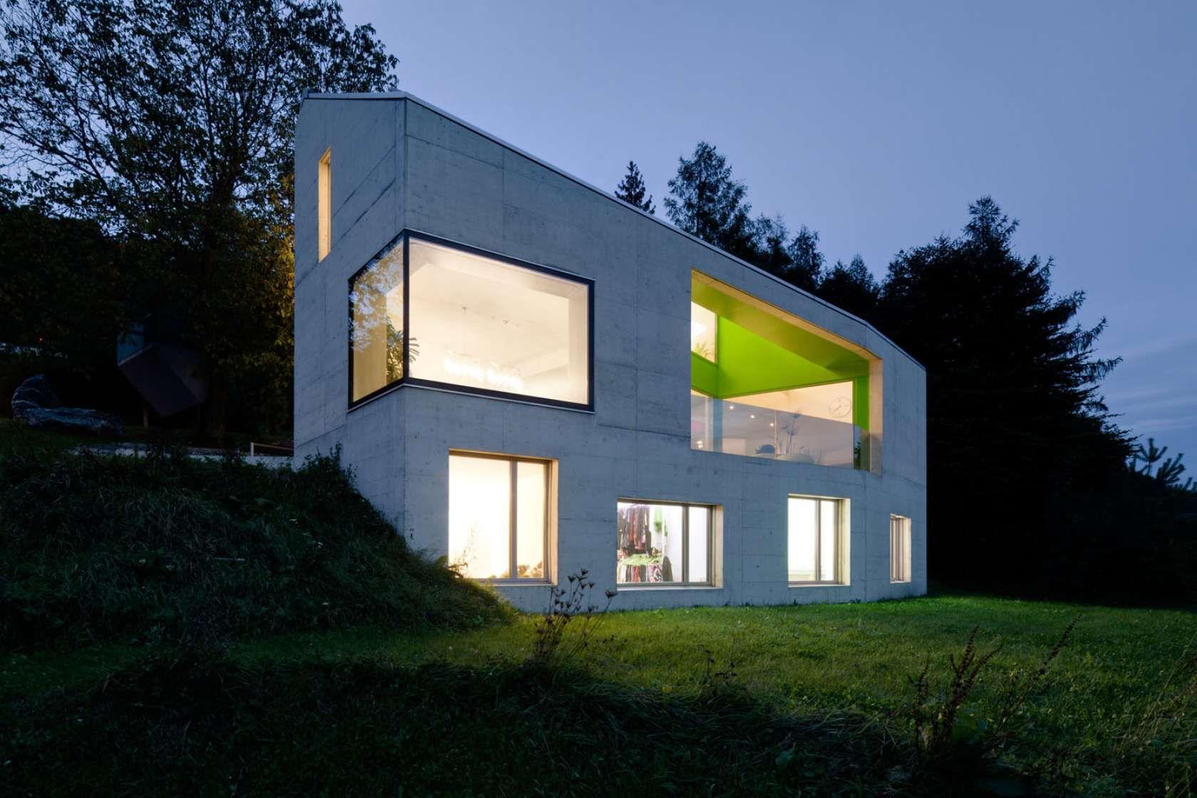 Einfamilienhaus dättlikon zürich switzerland moos giuliani herrmann architekten