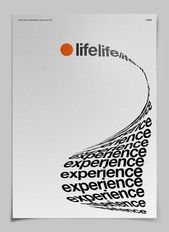 Photo of Life Experience Poster – Text that takes shape to make the object it …