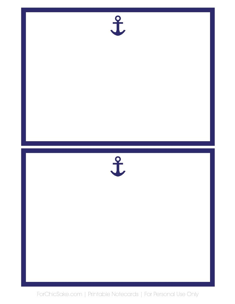 Free Printable 5x7 Notecards Print On Card Stock Many Designs To Pick From Free Nautical Printables Nautical Printables Nautical Baby Shower