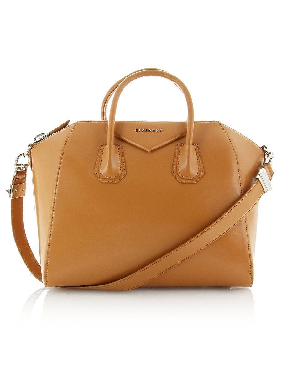 Givenchy Antigona Medium Camel Leather Handbag