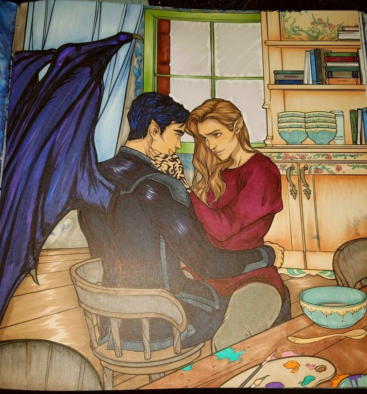 Acotar Coloring Book With Images Coloring Books A Court Of