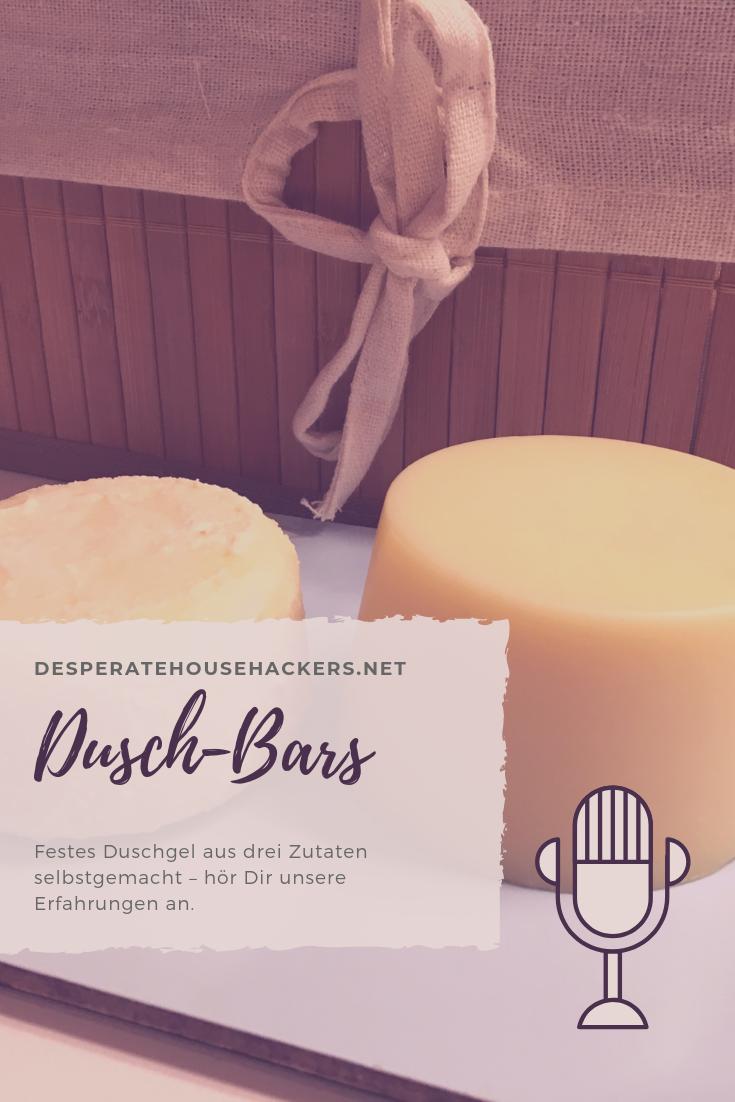 Dusch-Bars aus drei Zutaten