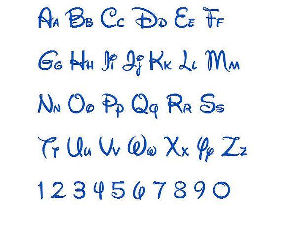 Disney Machine Embroidery Font Monogram Alphabet - 3 Sizes Fonts
