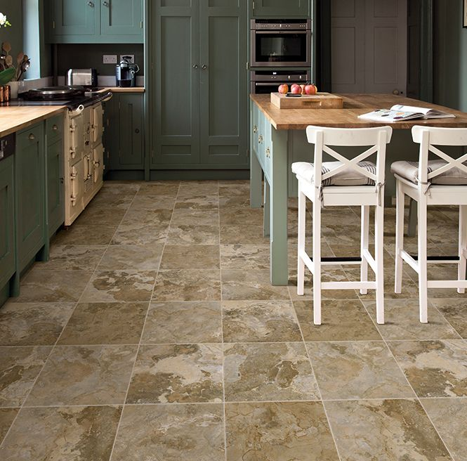 Sheet Vinyl Flooring By Ivcfloors Is Waterproof So It S Great For Kitchens Check Out Ivc Attica 932 In The Flexitec Collection