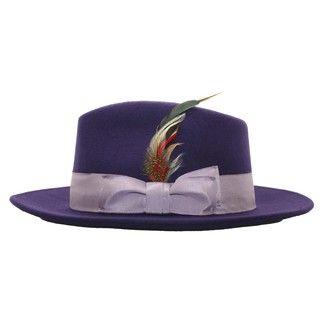 c6cc08055e281 Ferrecci Men s Purple Lavender Fedora Hat in 2019