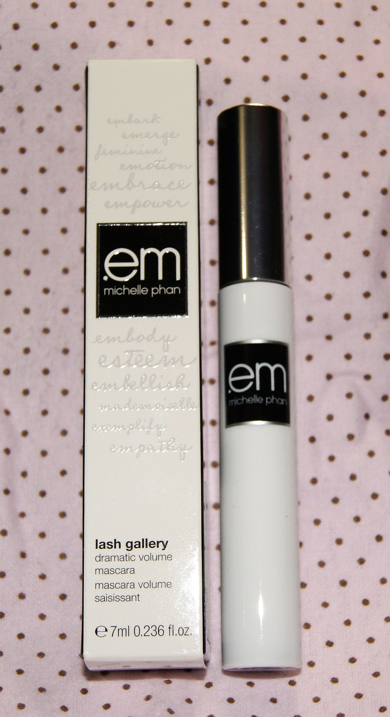 Pending! EM Michelle Phan Lash Gallery Dramatic Volume Mascara in Brown - full size, new