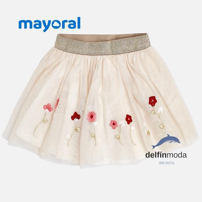 212e5c821 Falda de niña MAYORAL tul bordado | bebe mod | Faldas de tul, Faldas ...