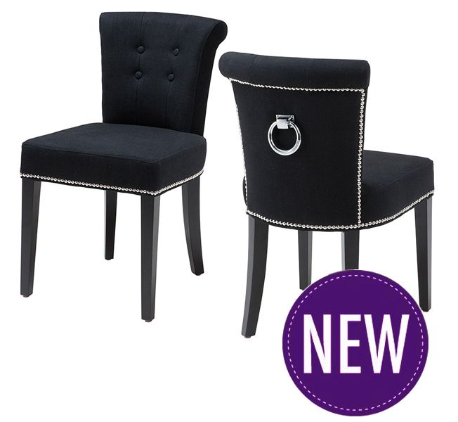 Key Largo Luxury Upholstered Dining Chair From Eichholtz. Black Wooden  Legs, Polished Stud Detailing