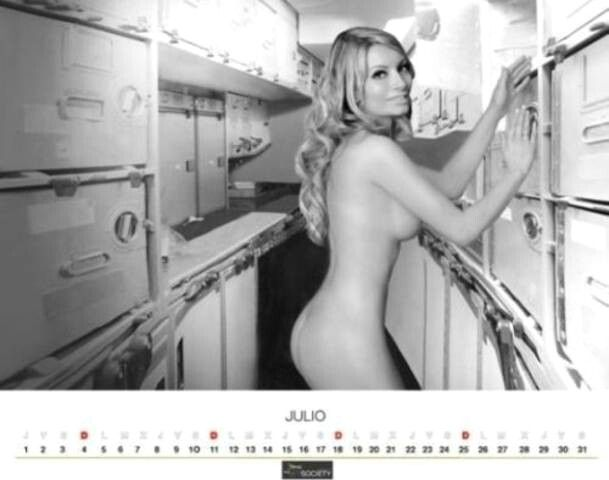 Nude flight attendant calendar photo 982