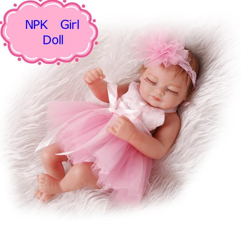 Cute 10inch Real Reborn Babies Full Silicone Reborn Baby Dolls Best Wedding Birthday Gift 26cm Realis Silicone Baby Dolls Silicone Reborn Babies Baby Bath Toys